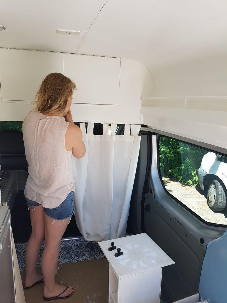 Campervan Interior - Curtains - DIY Campervan Conversion