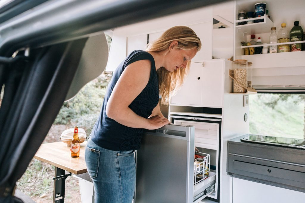DIY Campervan Conversion Kitchen