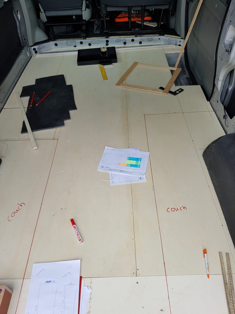 The floor, ceiling and walls of your campervan - Renault Trafic DIY Campervan Conversion