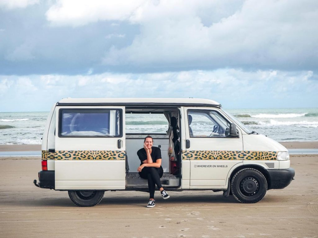 Dutch vanlifers living in campervan full-time