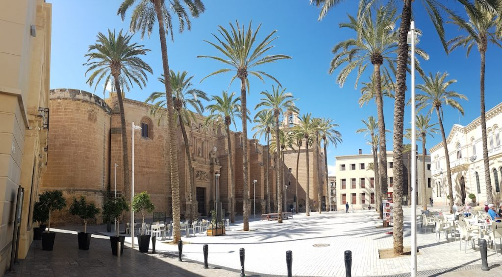 alcazaba of almeria spain catedral - Almeria Spain