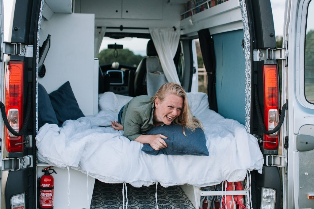 DIY campervan conversion - the bed