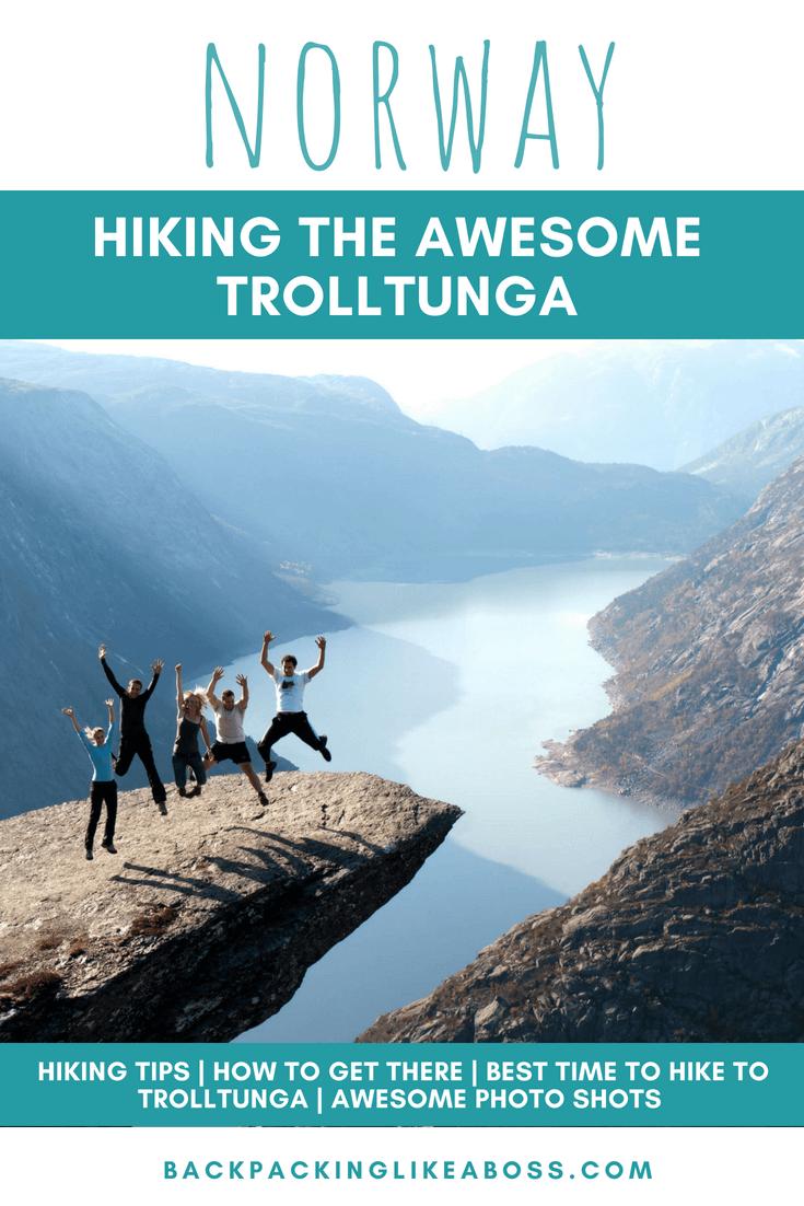 Hiking Trolltunga in Norway