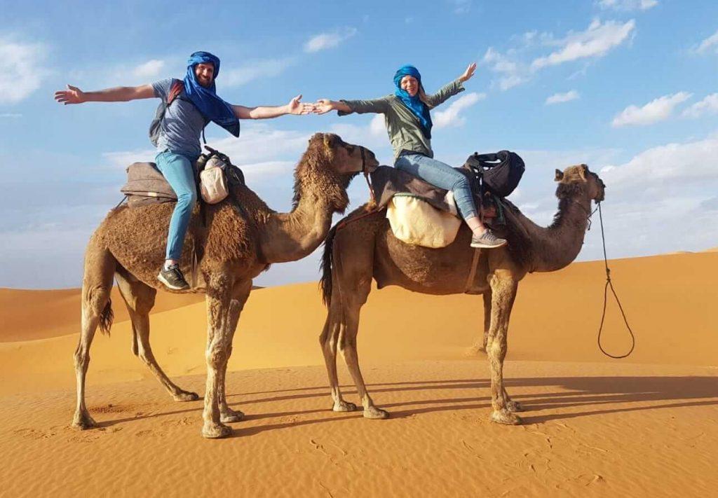 4 week morocco itinerary by campervan - merzourga sahara campel tour