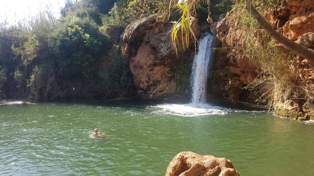 Things to do in Tavira - swimming in Pego do Inferno Waterfall