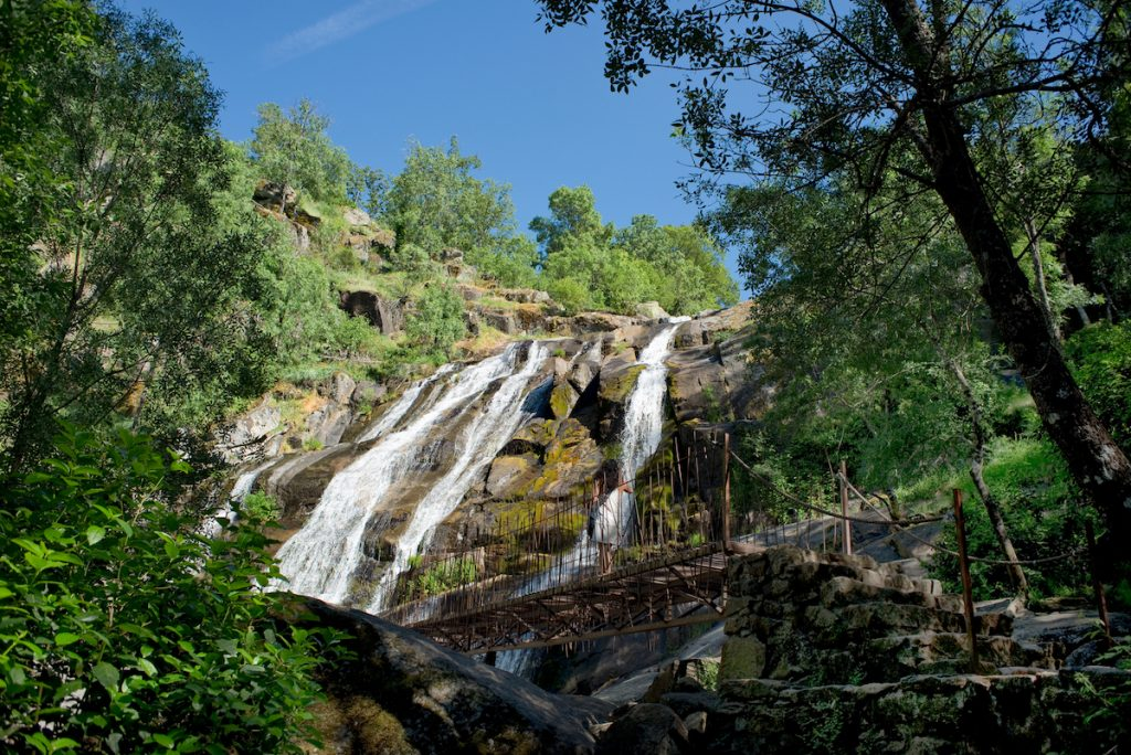 Caozo waterfall in Valle del Jerte, Caceres. Spain