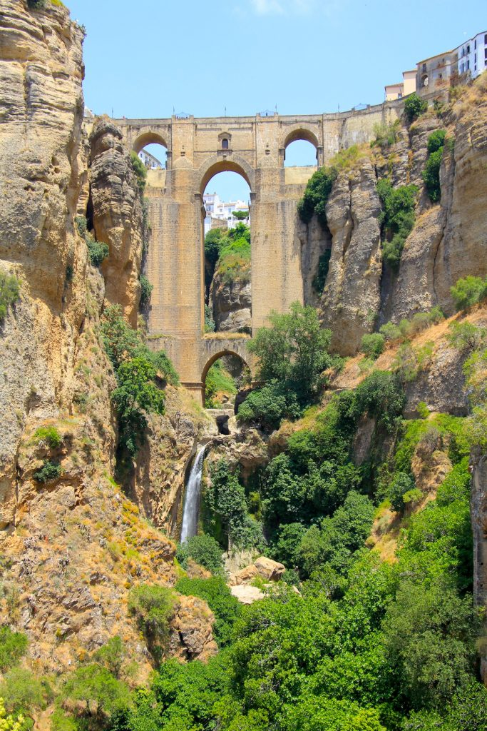 Waterfalls in Spain - Waterfall Ronda Puente Nuevo