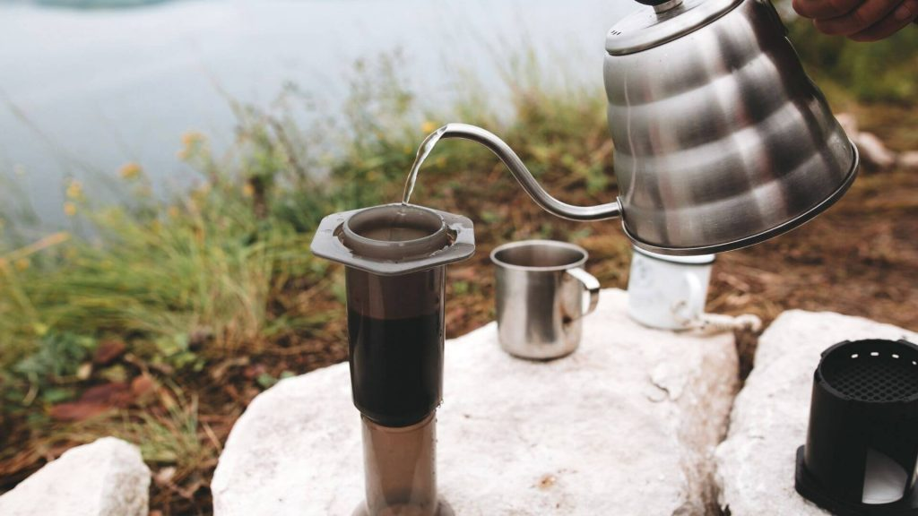 Aeropress for the perfect camping coffee in your motorhome