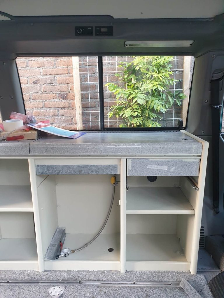 Campervan Kitchen Ideas - In progress