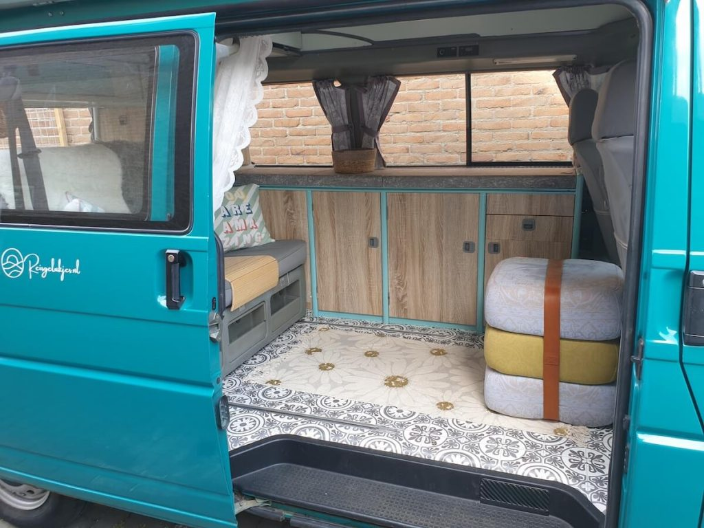 Campervan Kitchen Ideas - wrapping the kitchen