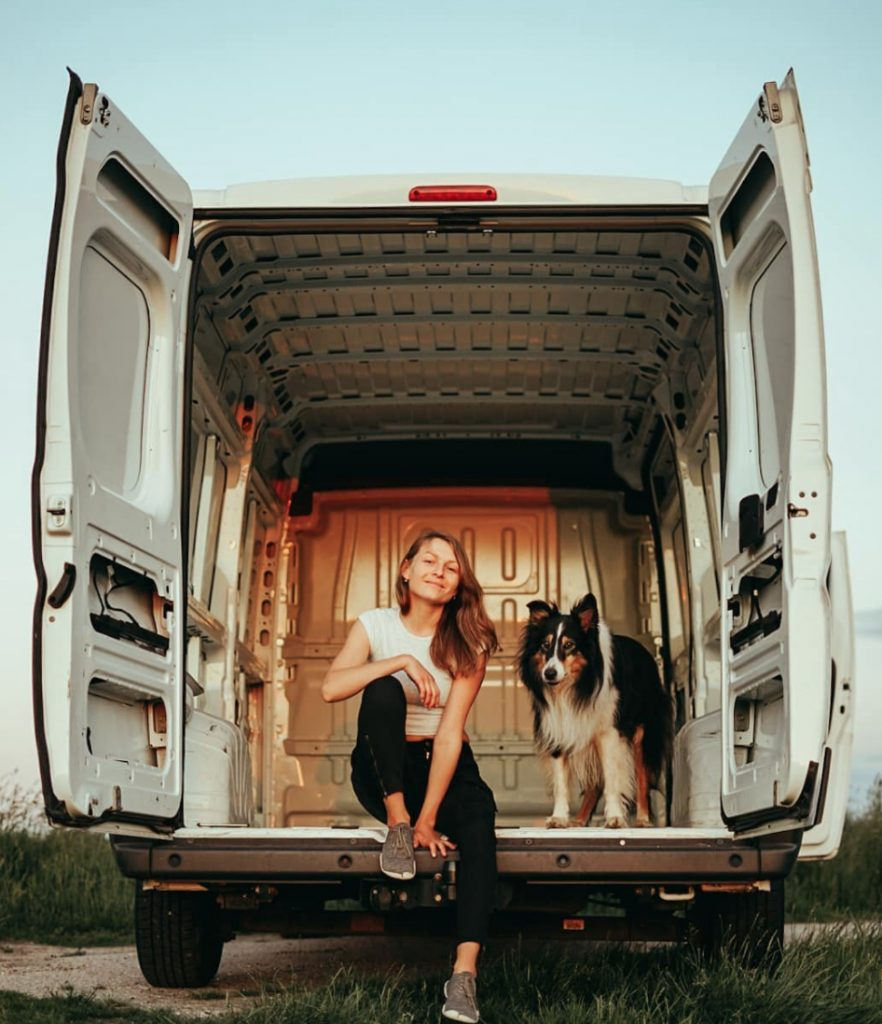 vanlife with pets - cleo and viki